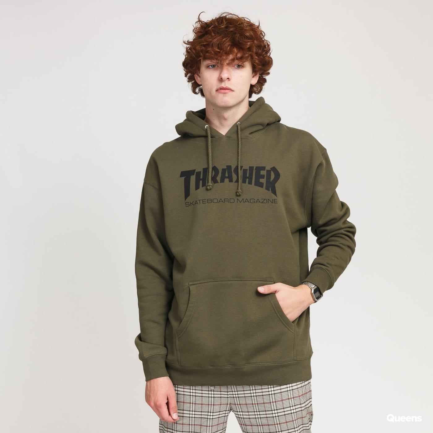 Thrasher Skate Mag Hood olive