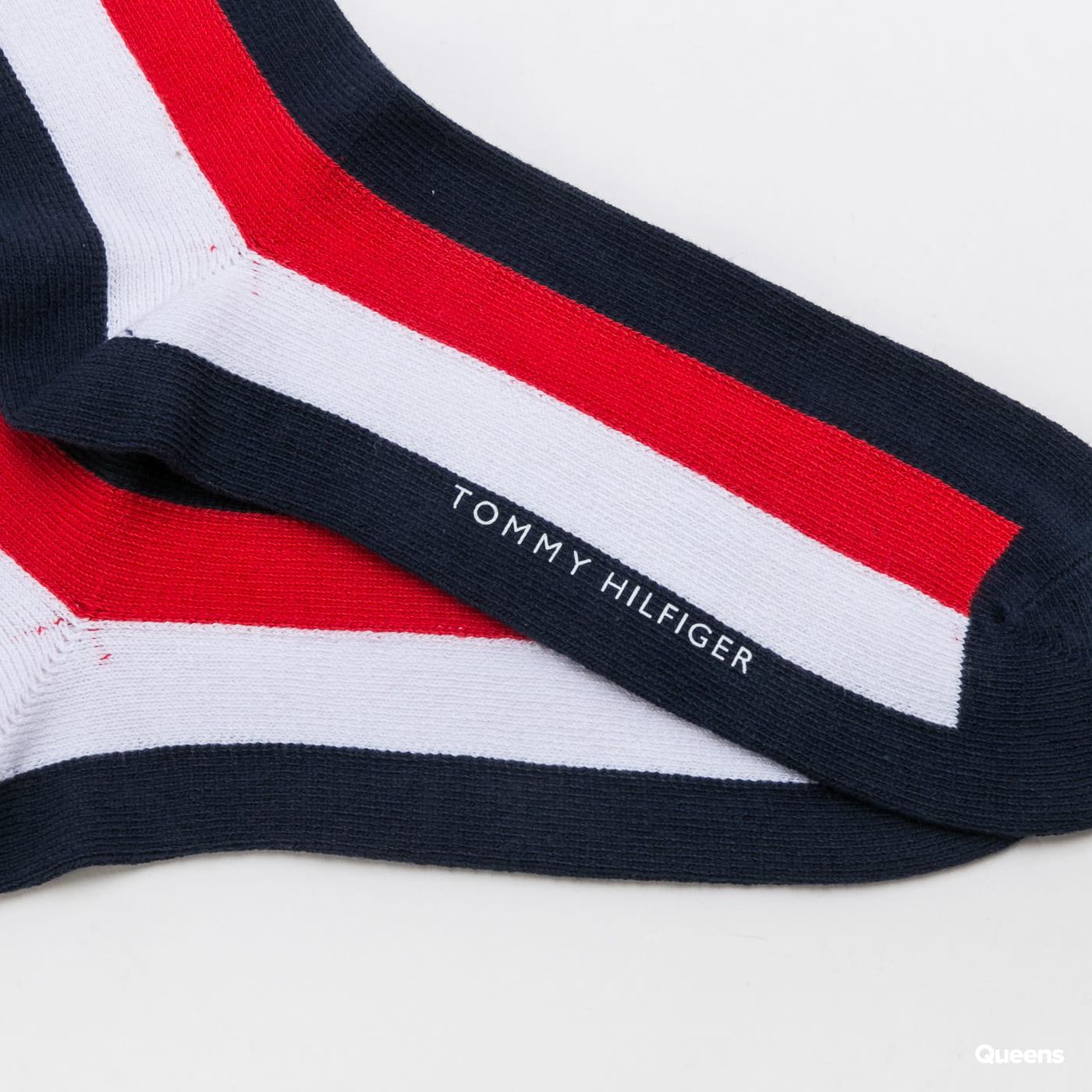 Tommy Hilfiger M Iconic Global Sock navy / bílé / červené