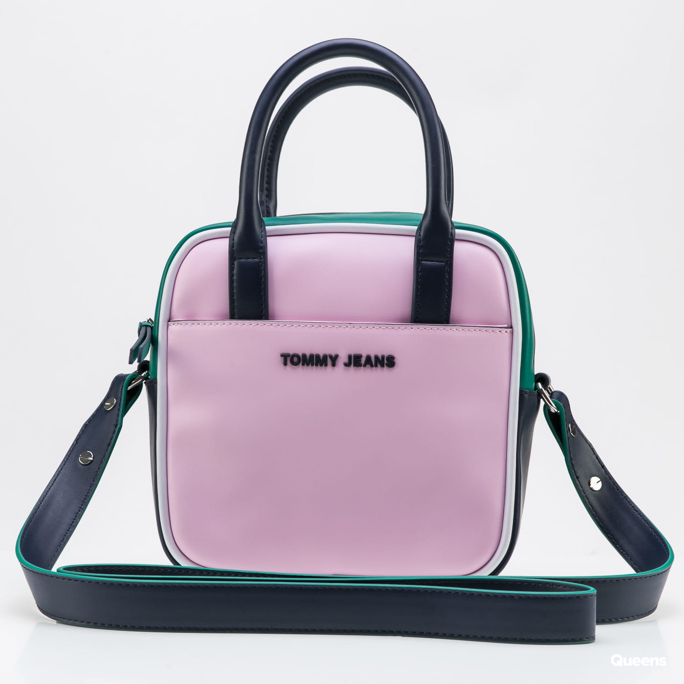 TOMMY JEANS Femme PU Satchel light pink / green