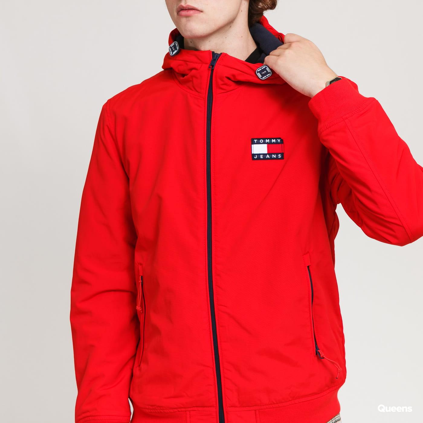 TOMMY JEANS M Padded Nylon Jacket červená