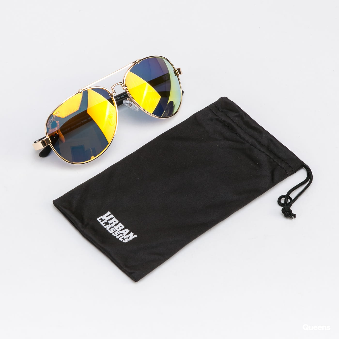 Urban Classics Sunglasses Mumbo Mirror UC gold / orange
