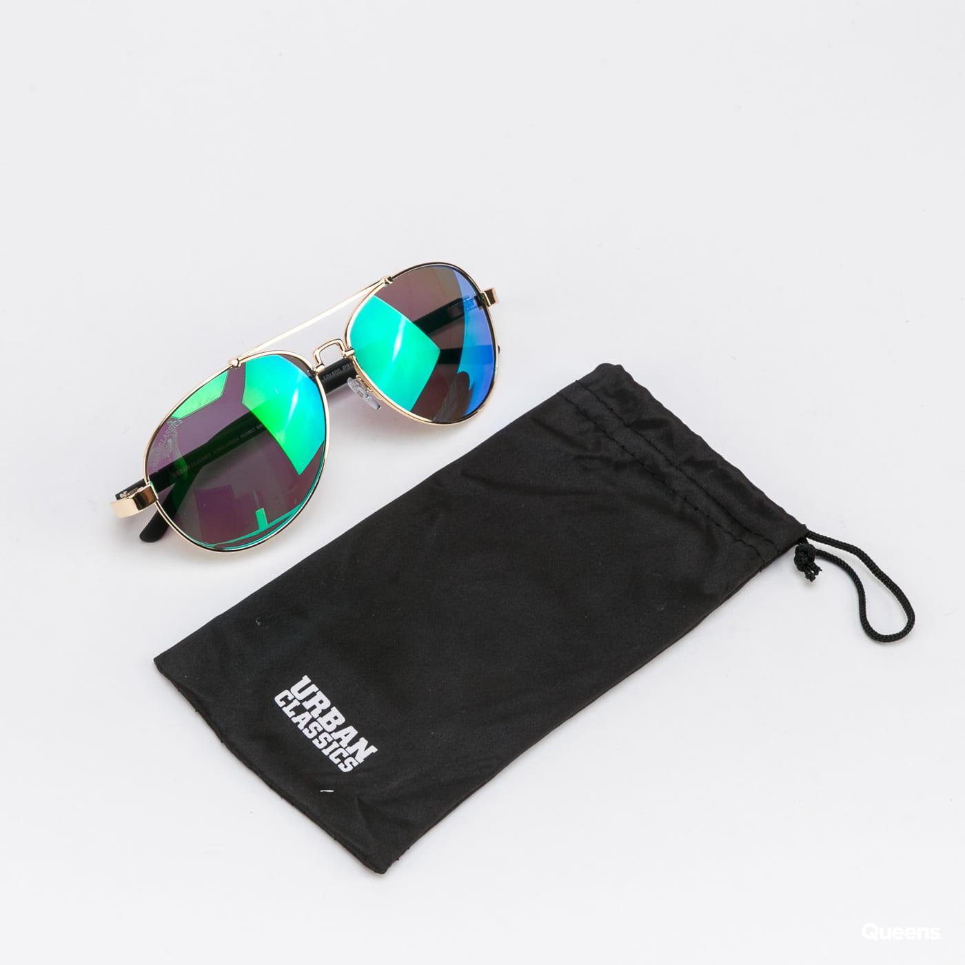 Urban Classics Sunglasses Mumbo Mirror UC zlaté / zelené