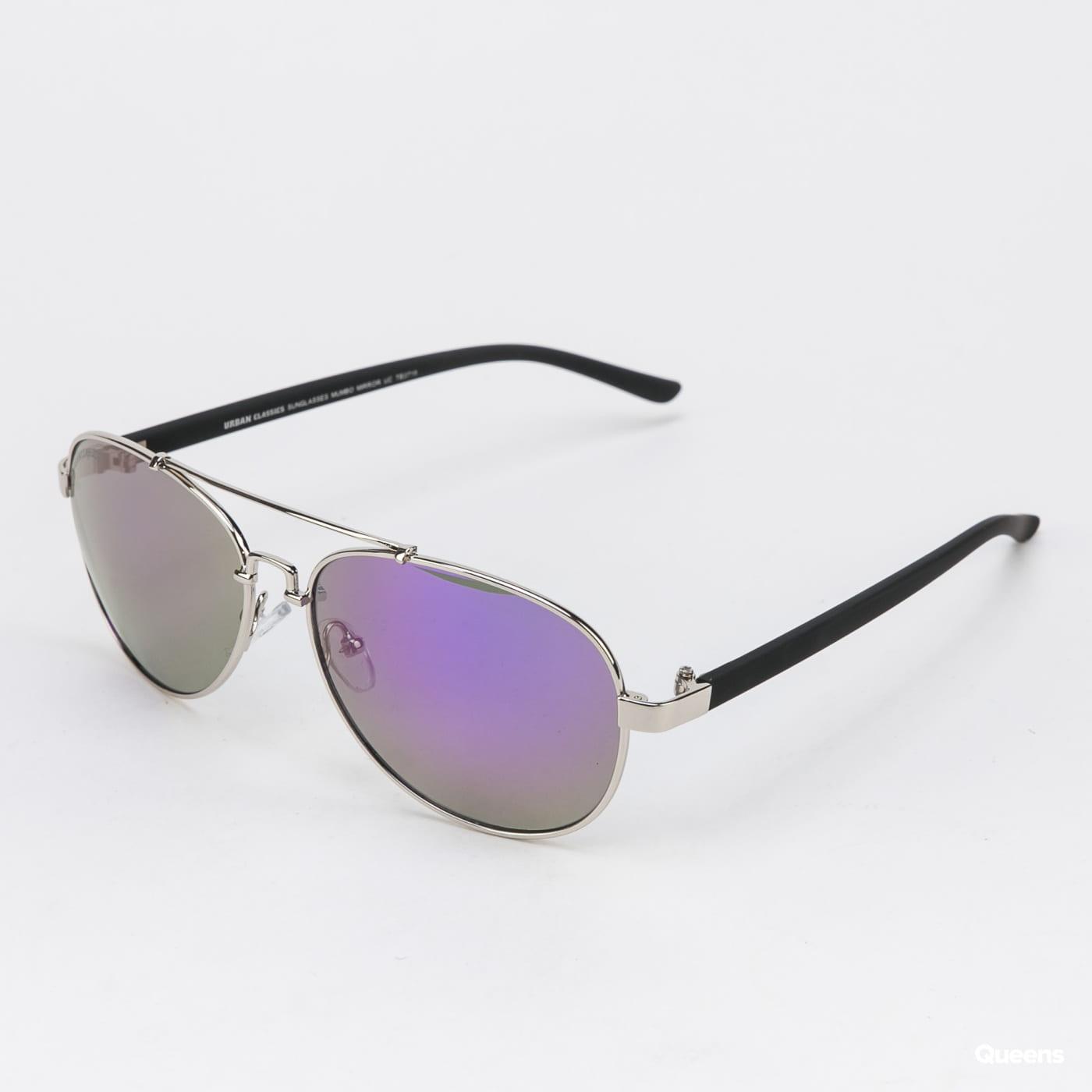 Urban Classics Sunglasses Mumbo Mirror UC stříbrné / fialové