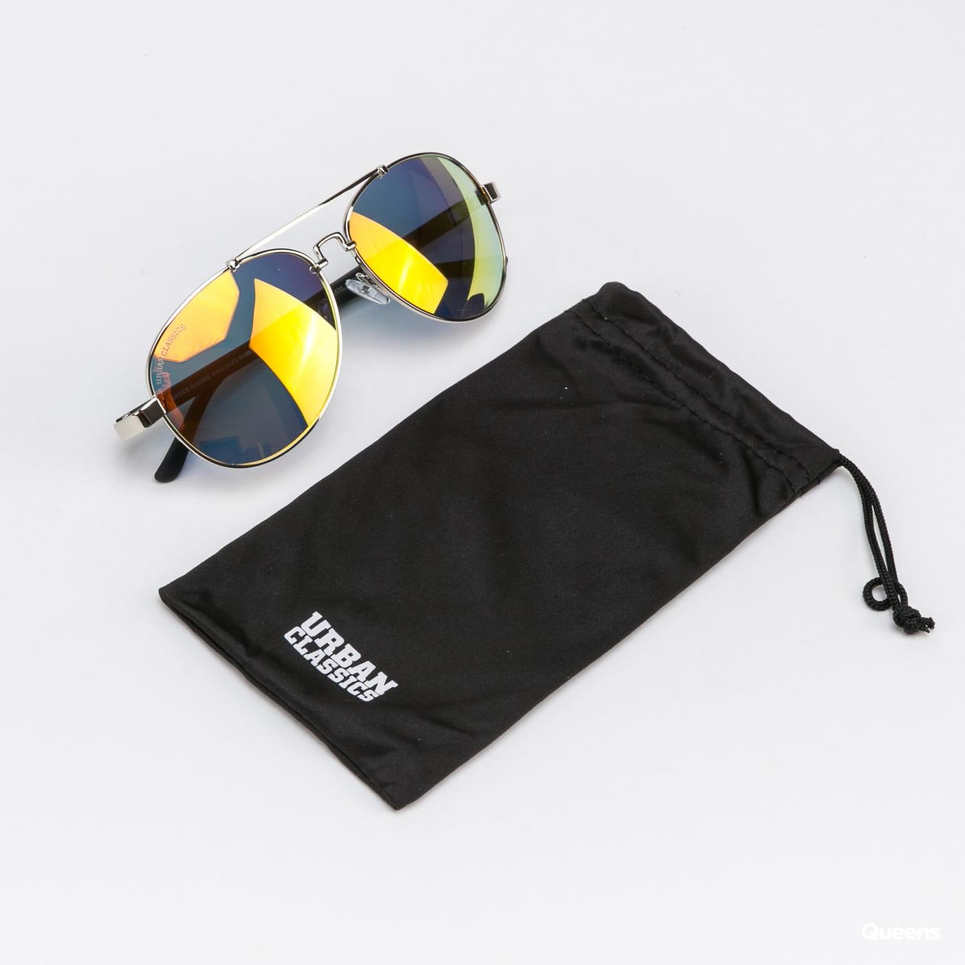 Urban Classics Sunglasses Mumbo Mirror UC silver / orange