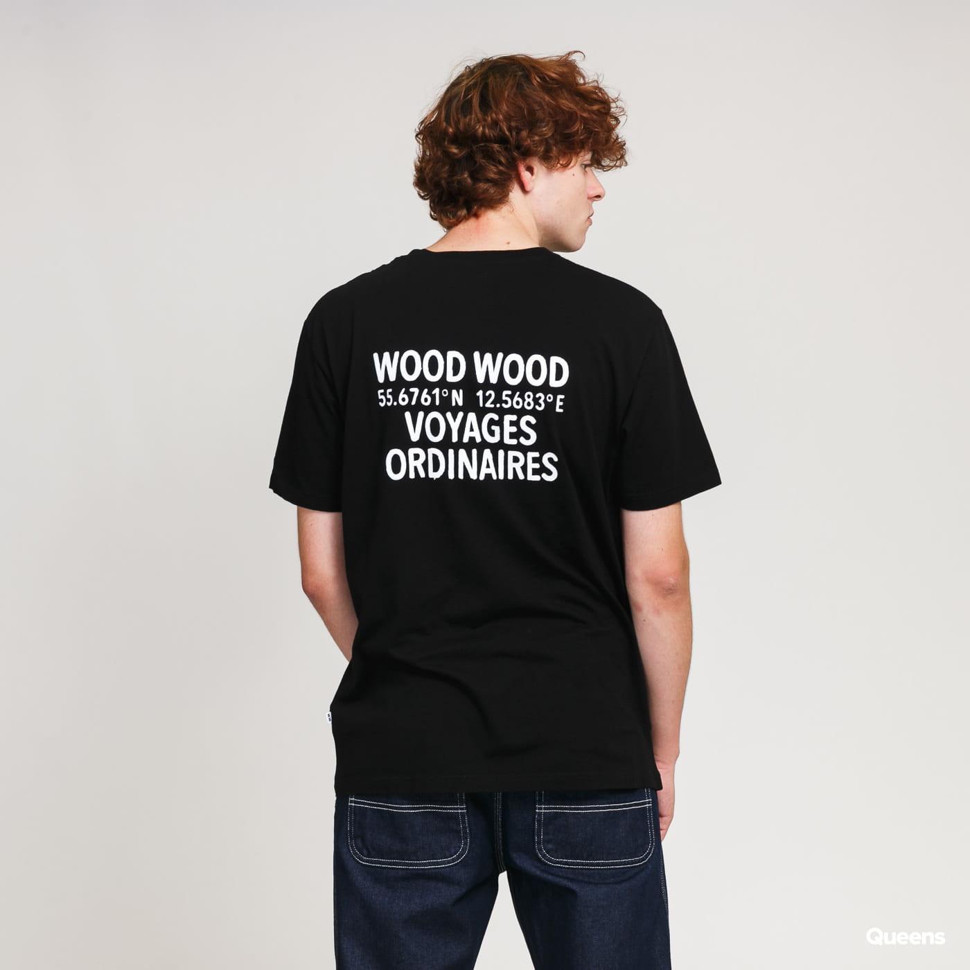 WOOD WOOD Voyages Tee black