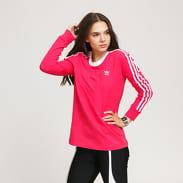 adidas Originals 3 Stripes LS tmavě růžové