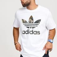 adidas Originals Camo Trefoil Tee bílé