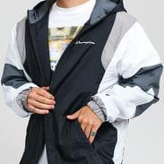 Champion Full Zip Hooded Jacket černá / bílá / šedá