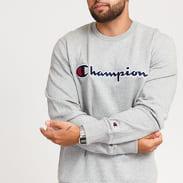 Champion Script Logo Crewneck melange šedá
