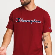 Champion Script Logo Crewneck Tee vínové
