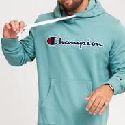 Champion Script Logo Hooded Sweatshirt zelená