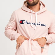 Champion Script Logo Hooded Sweatshirt růžová