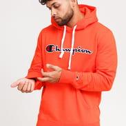 Champion Script Logo Hooded Sweatshirt oranžová