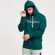 Champion Script Logo Hooded Sweatshirt tmavě zelená