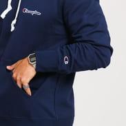 Champion Small Script Logo Hooded Sweatshirt navy