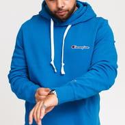 Champion Small Script Logo Hooded Sweatshirt modrá