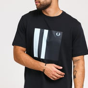 FRED PERRY Tipped Graphic Tee navy