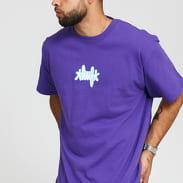 HUF Landmark Logo Tee fialové