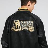 Mitchell & Ness CNY Satin Jacket Philadelphia 76ers černá / zlatá