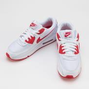 Nike Air Max 90 white / hyper red - black