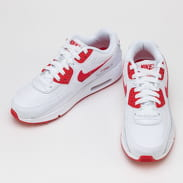 Nike Air Max 90 Leather (GS) white / hyper red - black