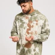 Nike M NSW Hoodie PO FT Dye krémová / olivová / hnědá