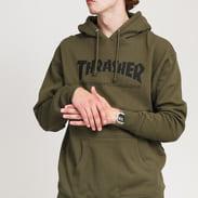 Thrasher Skate Mag Hood olivová