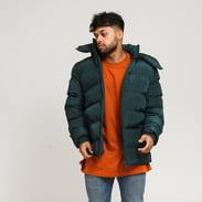 Urban Classics Hooded Puffer Jacket tmavě zelená