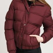 Urban Classics Ladies Hooded Puffer Jacket vínová