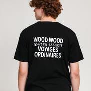 WOOD WOOD Voyages Tee černé