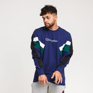 Champion Colorblock Printed Logo Crewneck