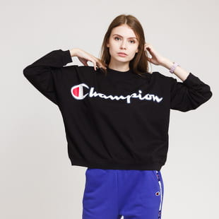 Champion Script Logo High Neck LS Tee