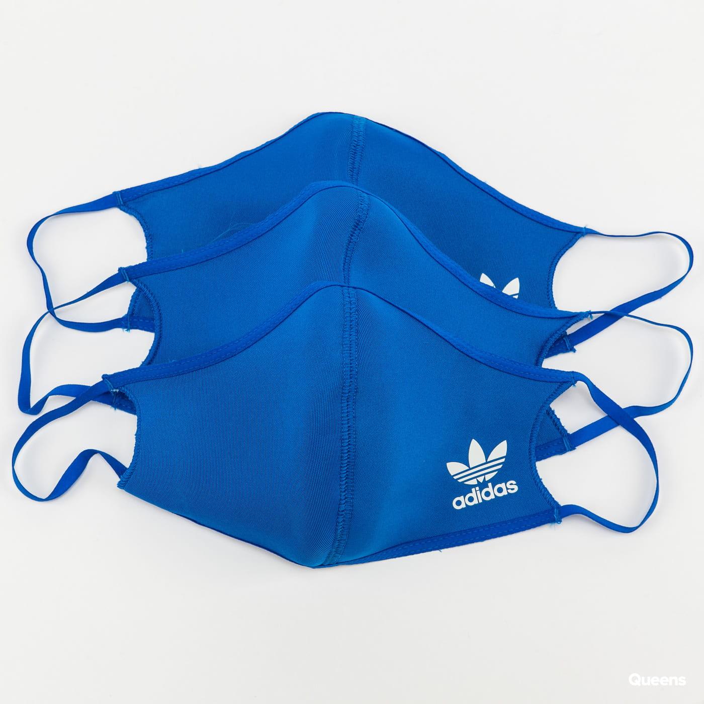 adidas Originals 3Pack Face Cover Small modrá