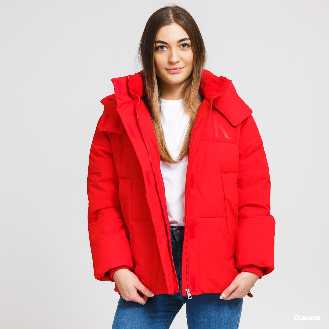 CALVIN KLEIN JEANS W Eco Puffer Jacket červená