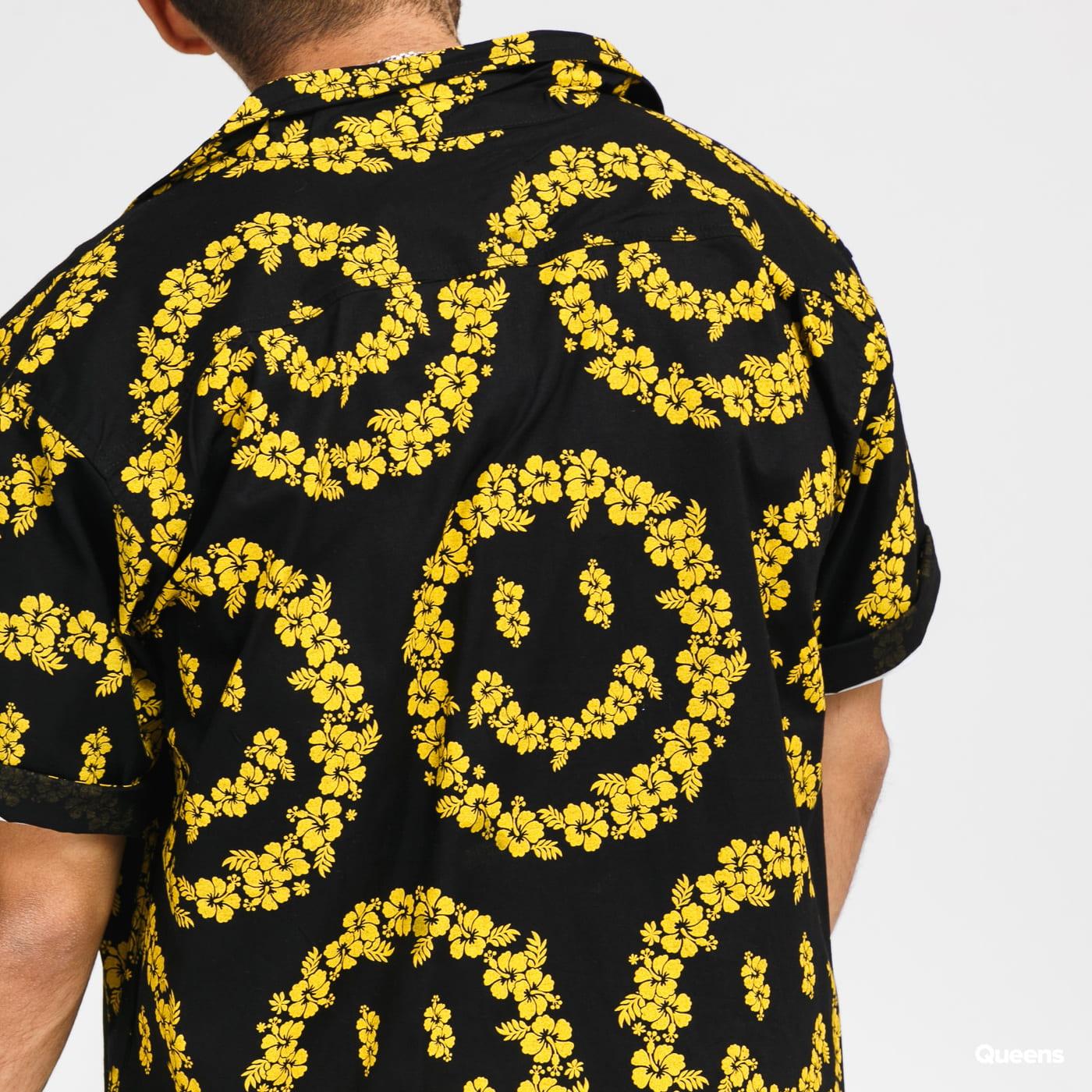 Chinatown Market Smiley Floral Shirt černá / žlutá