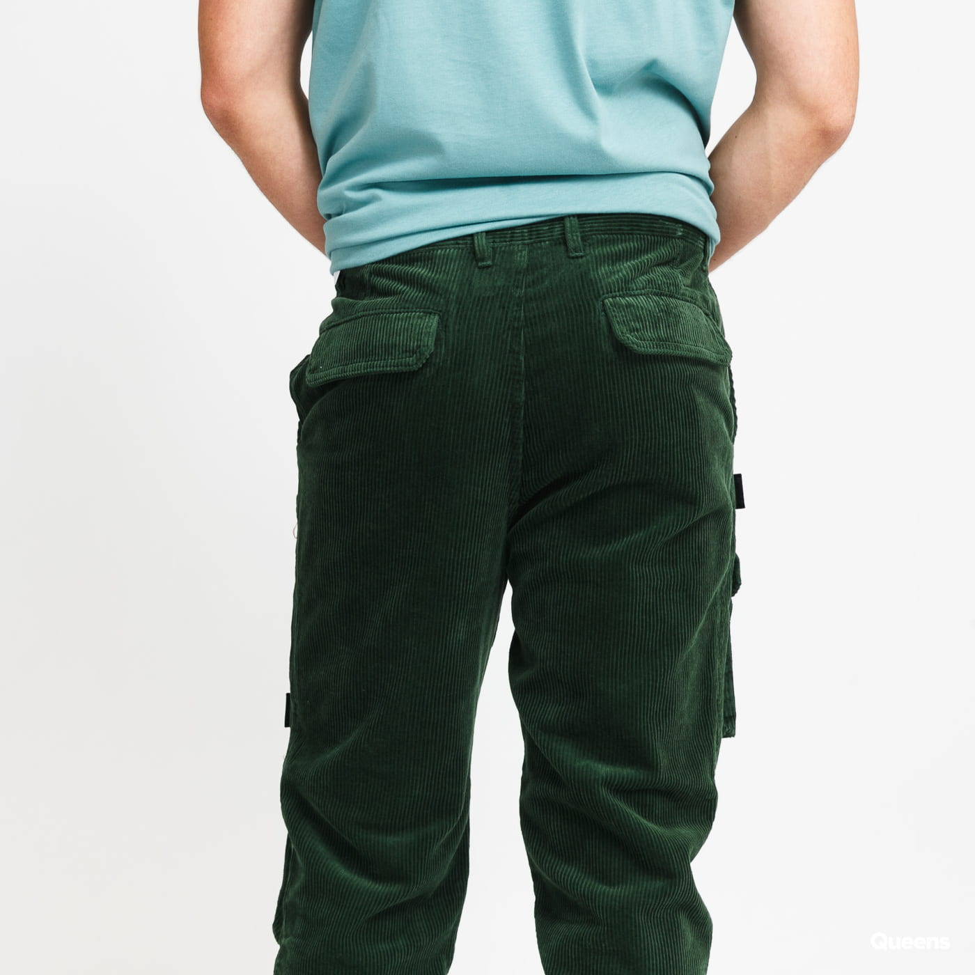Daily Paper Corduroy Cargo Pants zelené