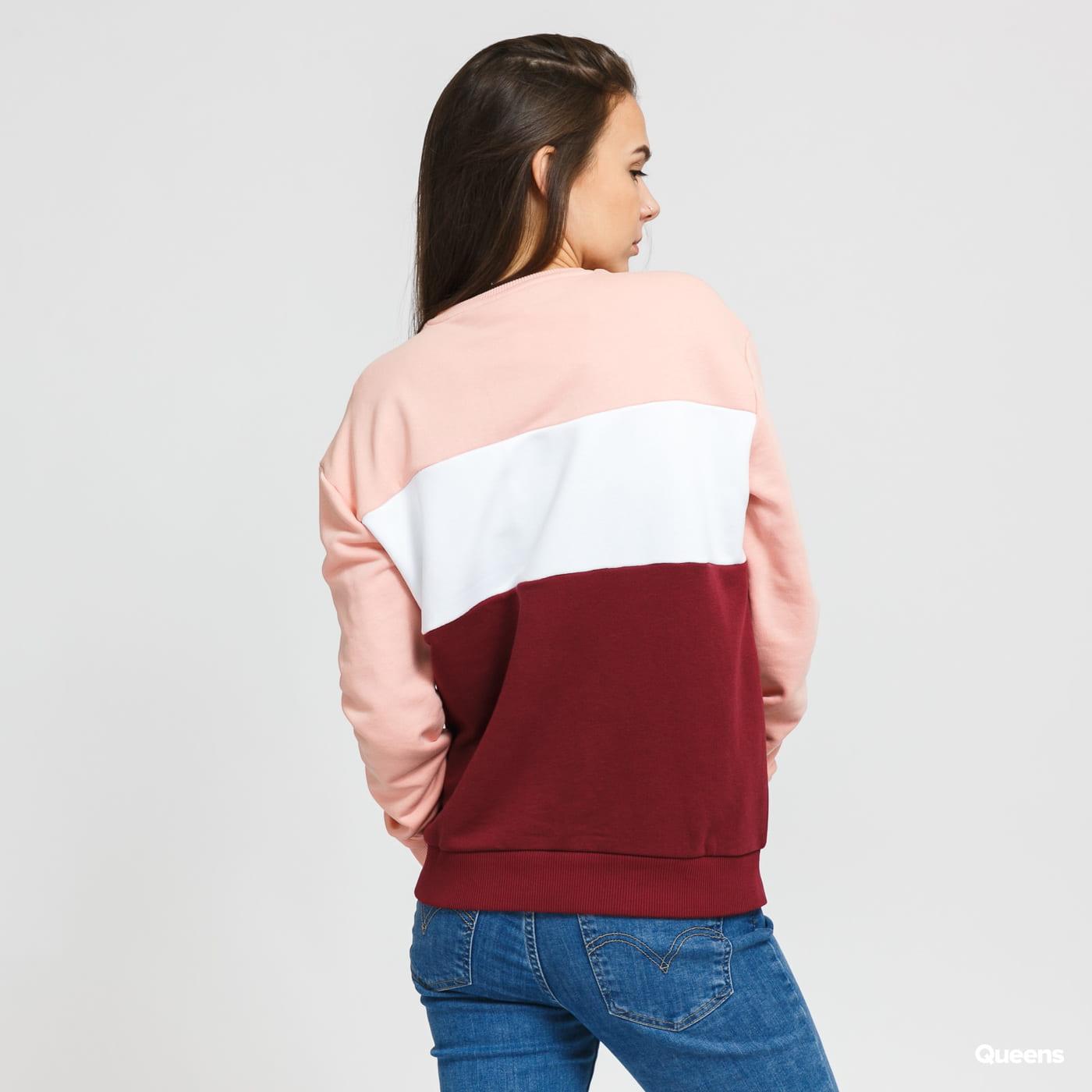 Fila W Leah Crew Sweat pink / white / burgundy