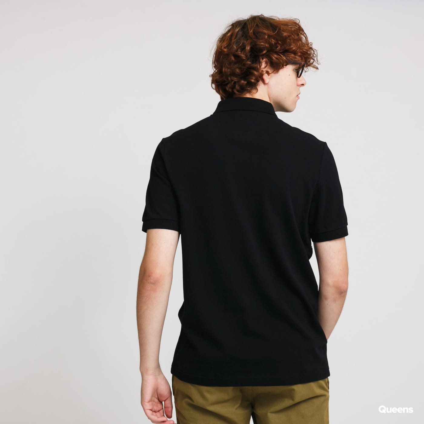 FRED PERRY Embroidered Panel Polo Tee černé