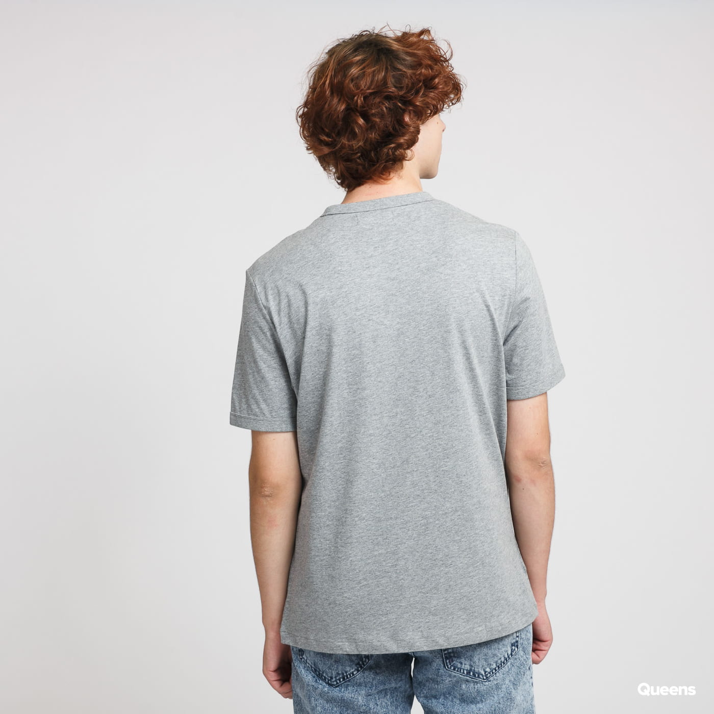 FRED PERRY Embroidered Panel Tee melange gray
