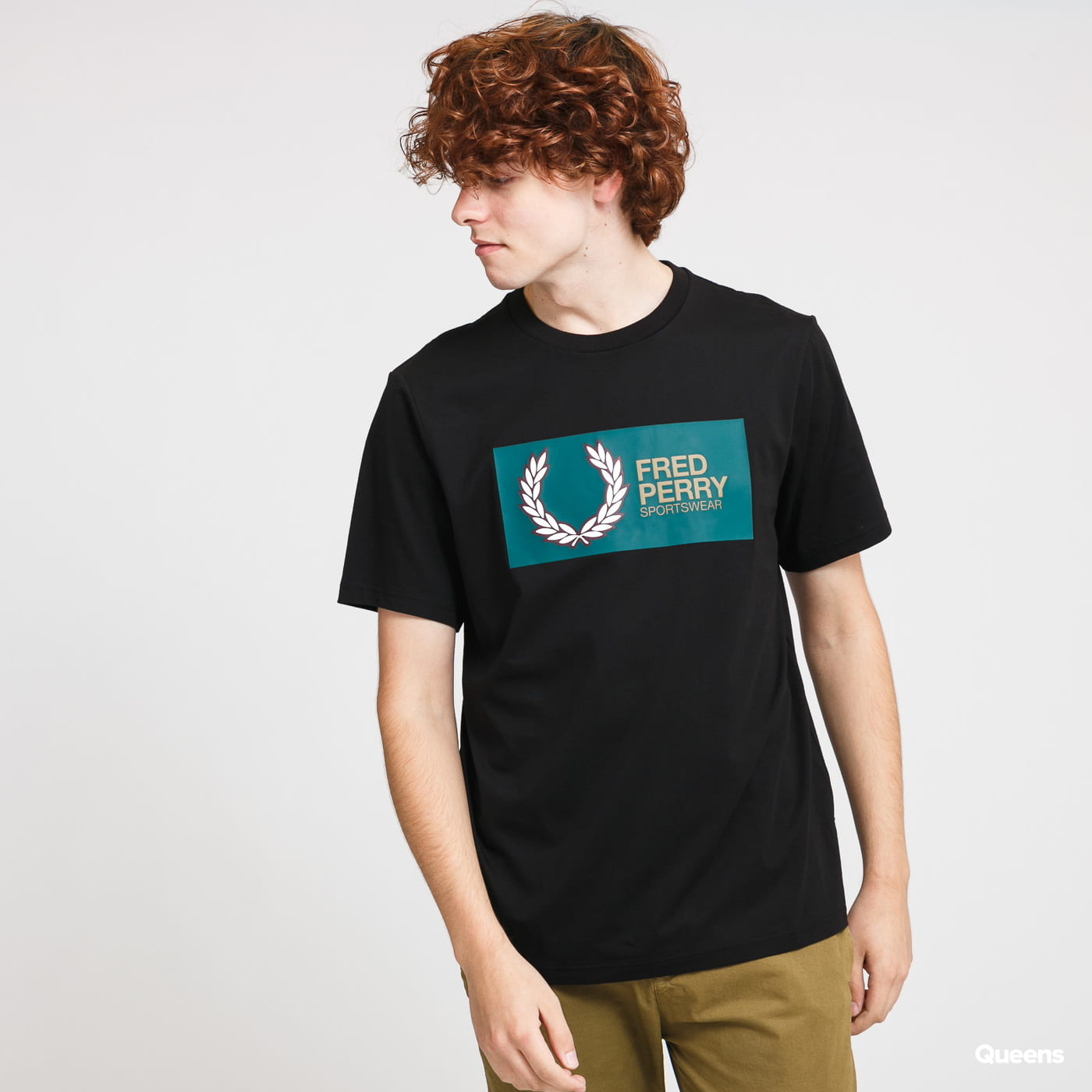 FRED PERRY Fred Perry Sportswear Tee černé