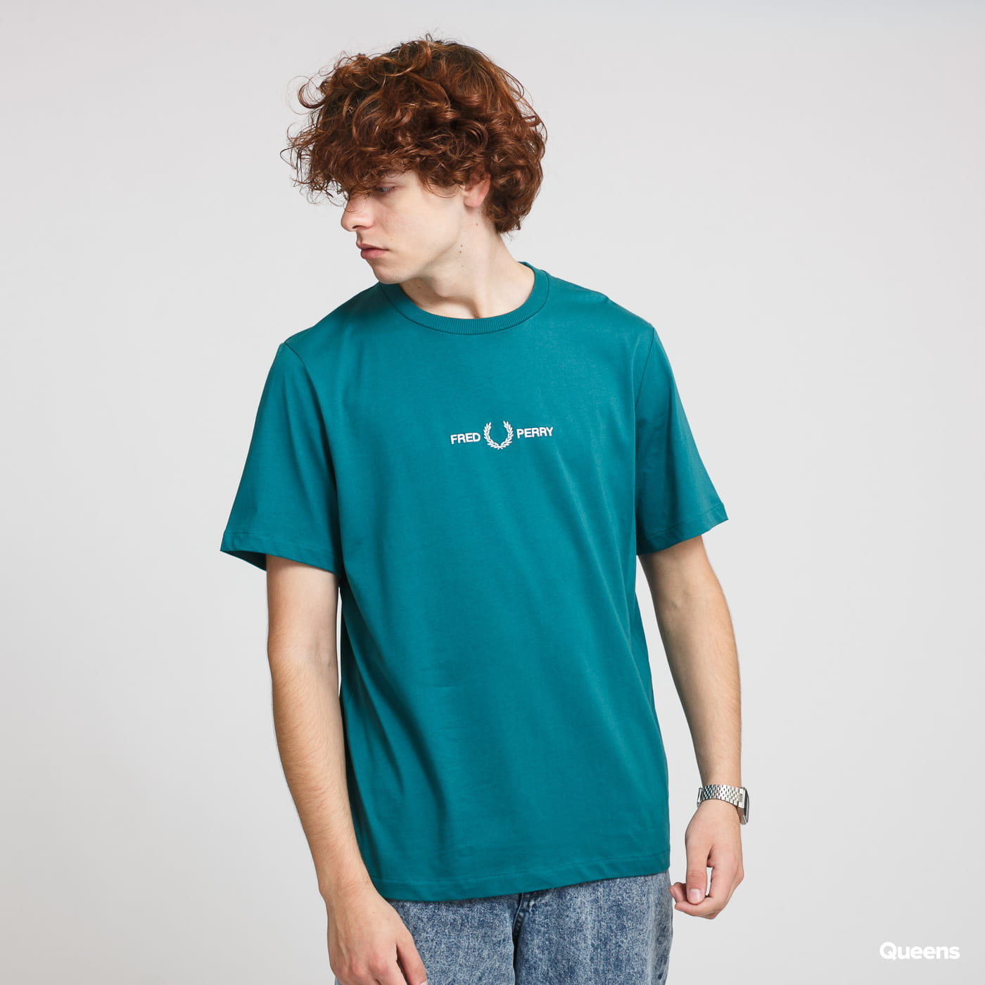 FRED PERRY Graphic Tee green
