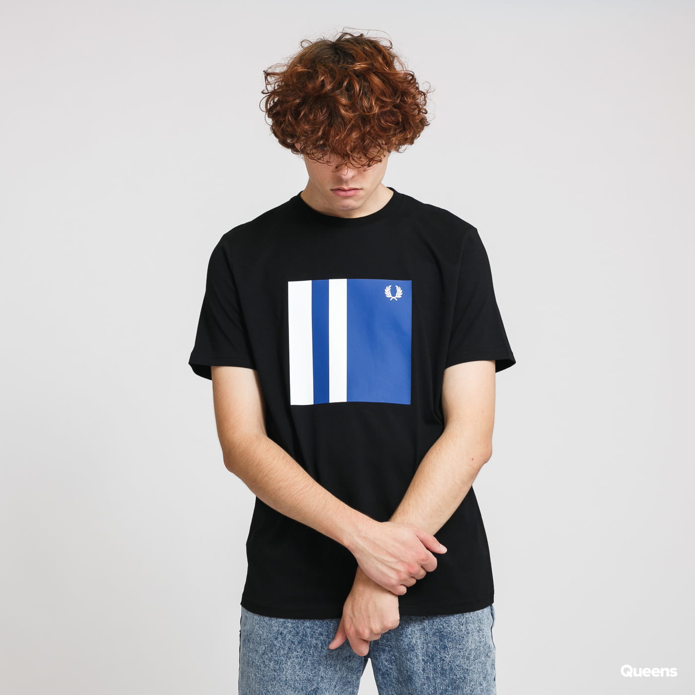 FRED PERRY Tipped Graphic Tee black