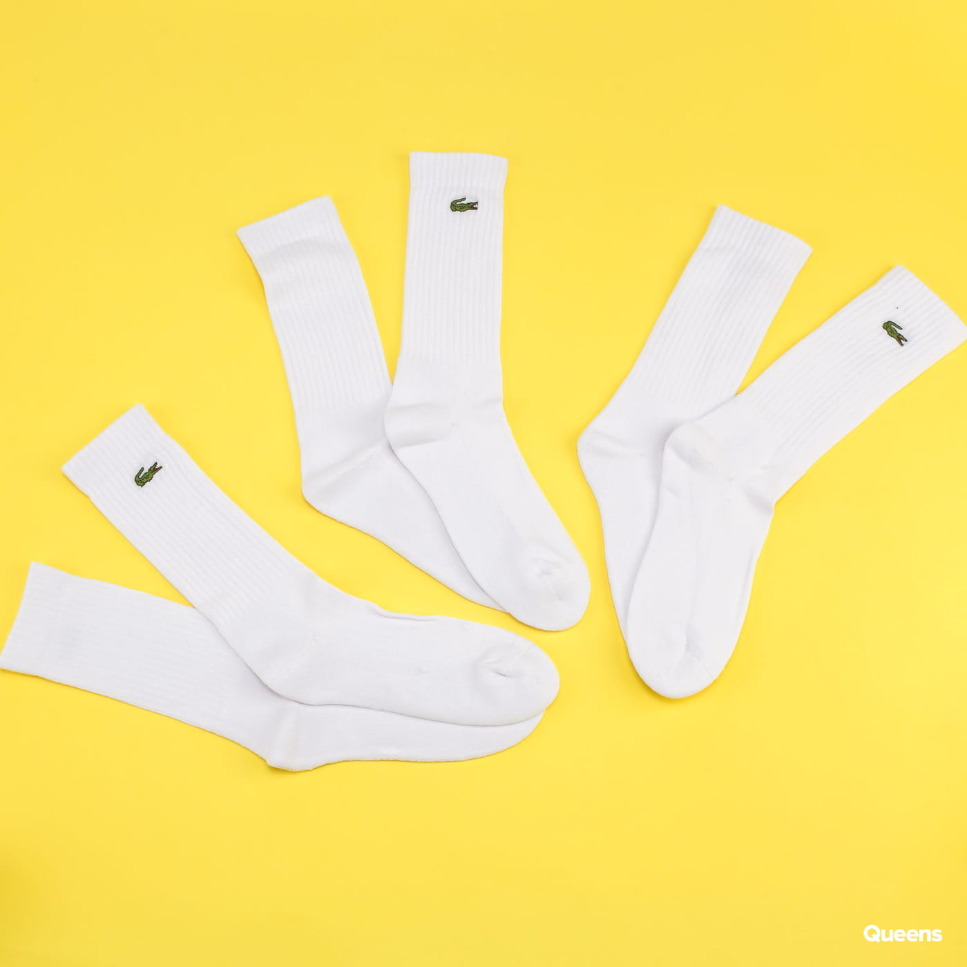 LACOSTE 3Pack Crew Cut Socks blue / turquoise