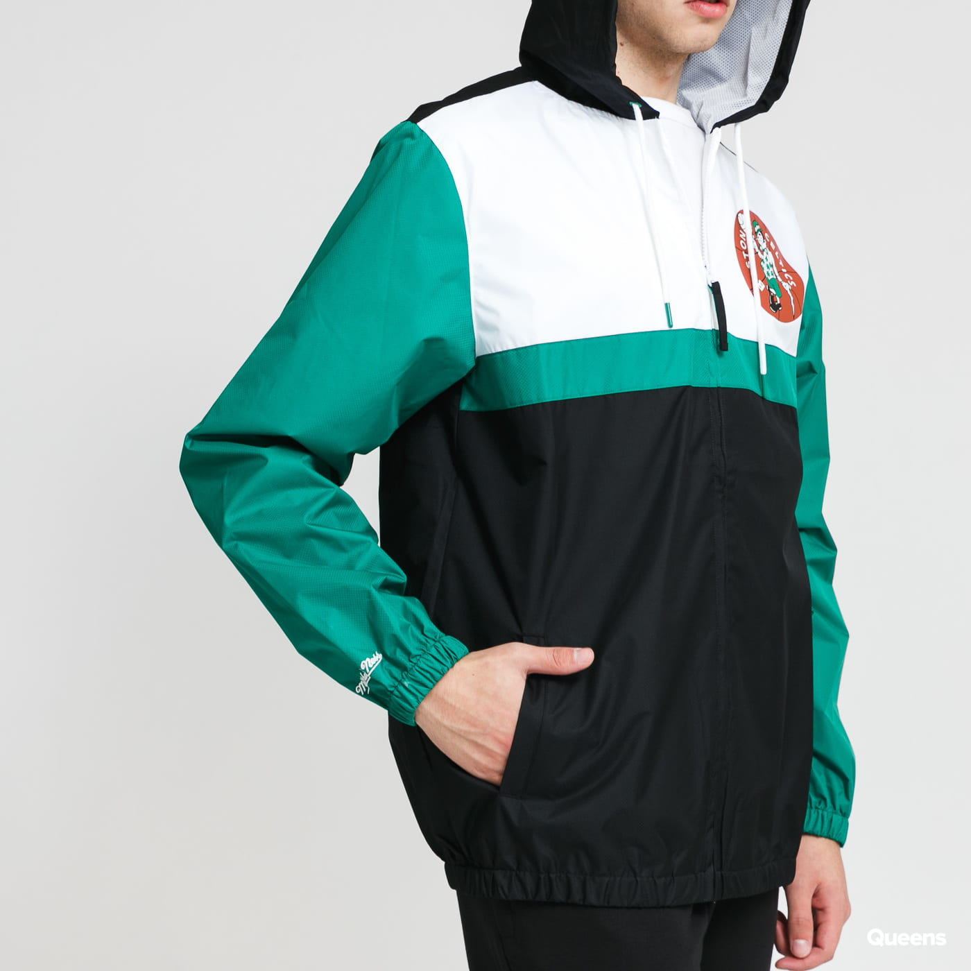 Mitchell & Ness Margin Of Victory Windbreaker Boston Celtics black / green / white