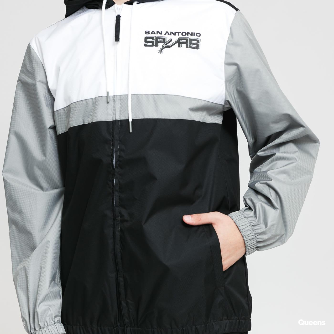 Mitchell & Ness Margin Of Victory Windbreaker San Antonio Spurs black / grey / white