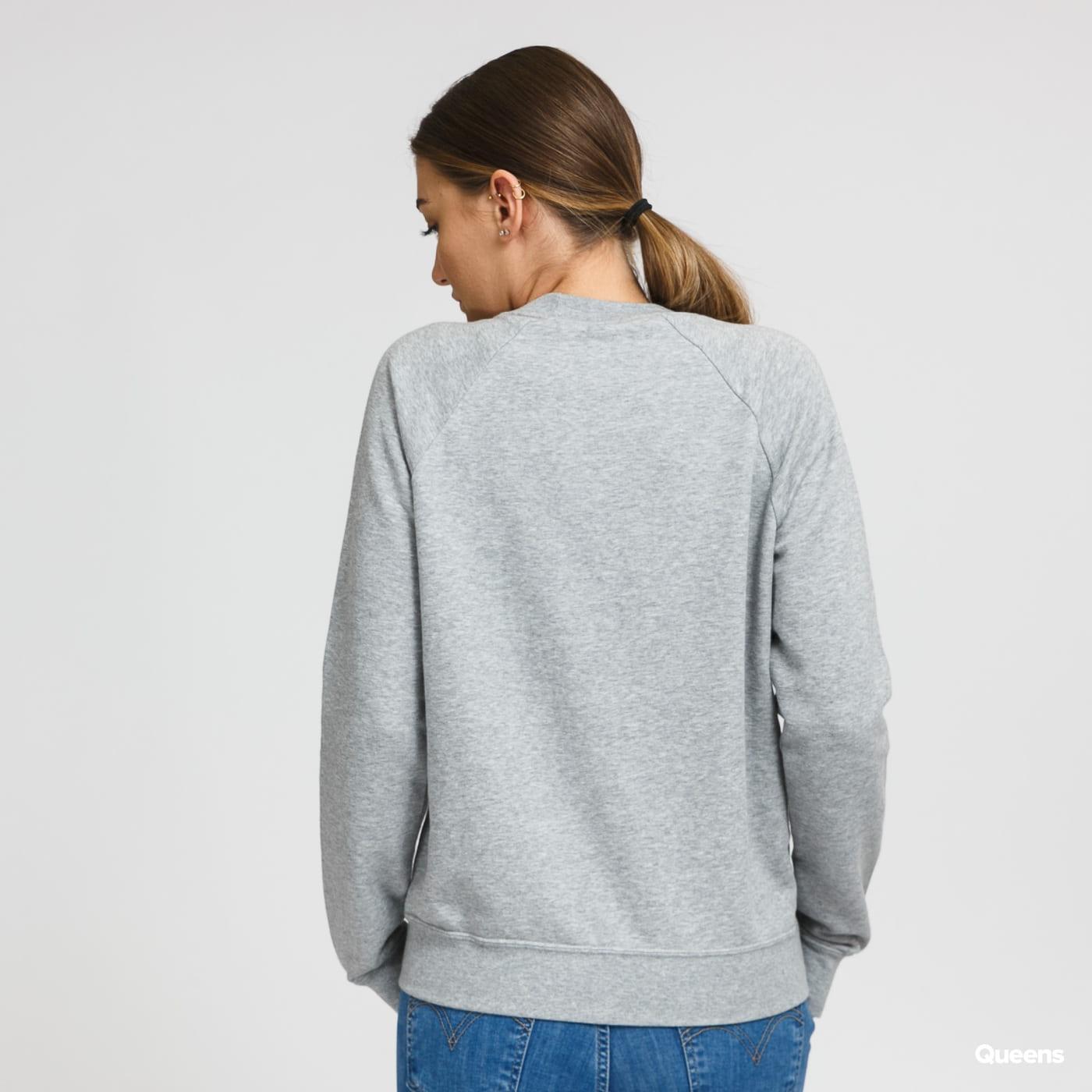 Nike W NSW Essential Crew Fleece melange šedá