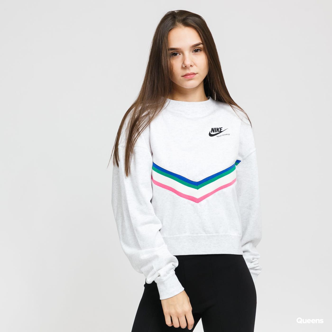 Nike W NSW Heritage Crew Fleece melange light gray
