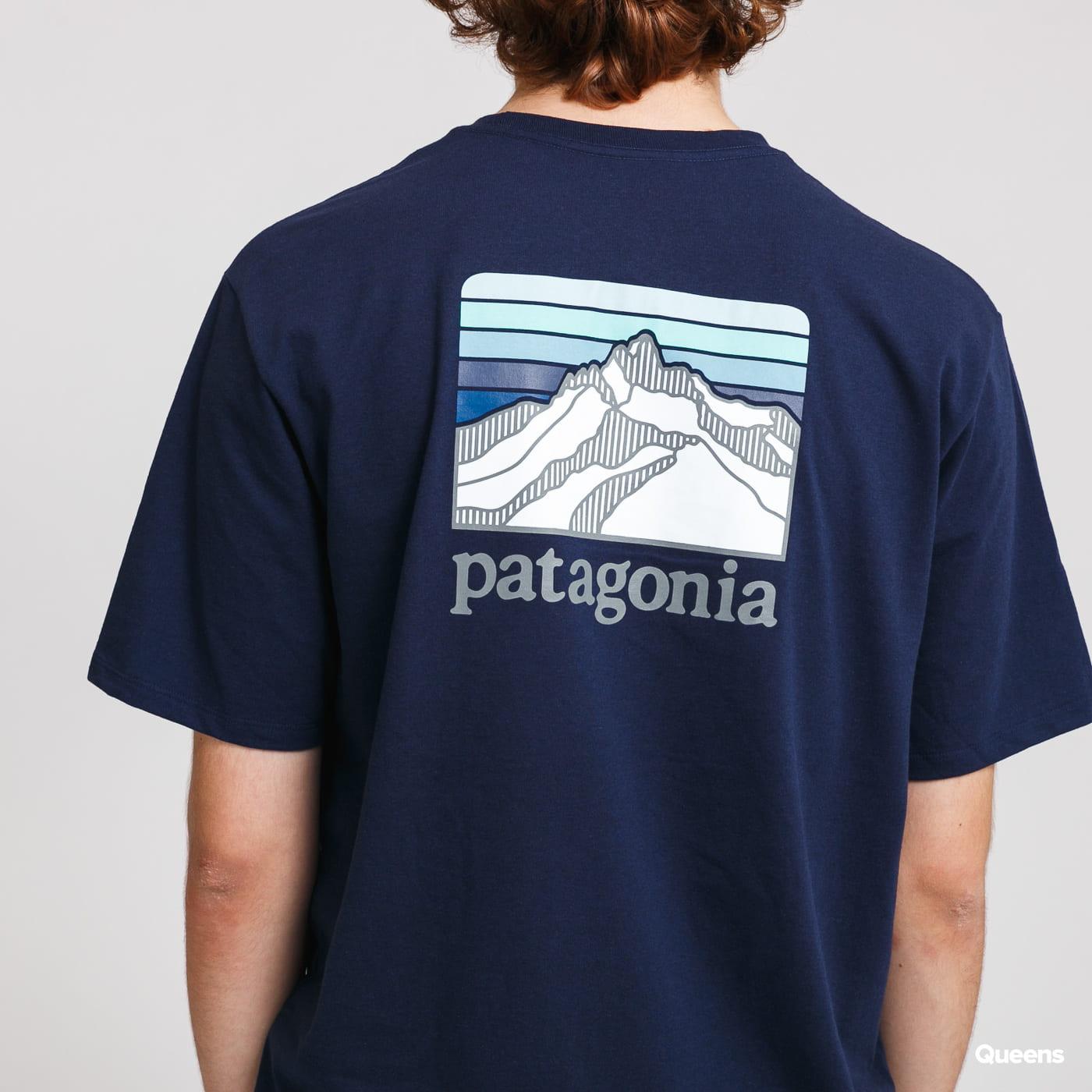 Patagonia M's Line Logo Ridge Pocket Responsibili Tee blue / turquoise