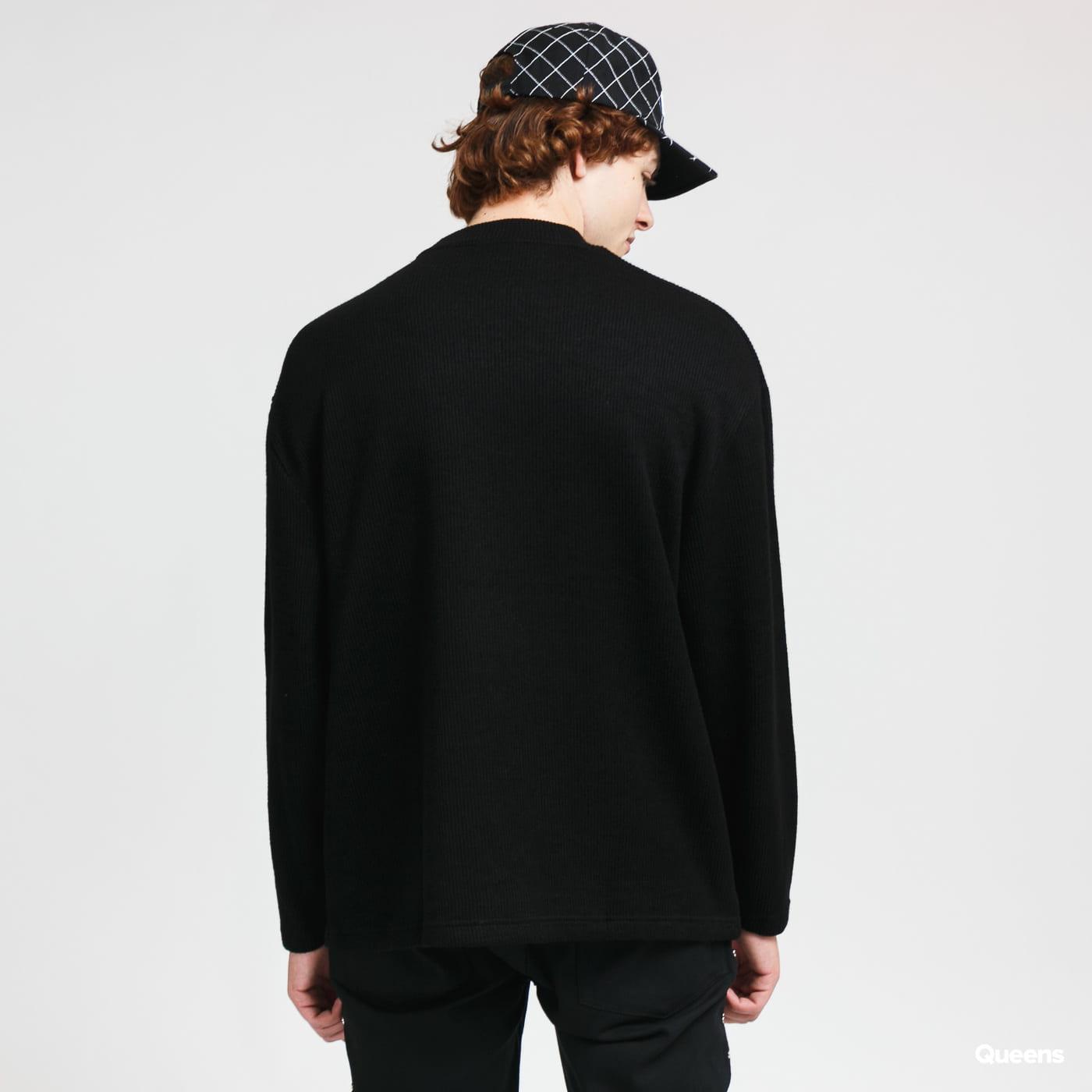 PLEASURES Fresno Knit Long Sleeve černý