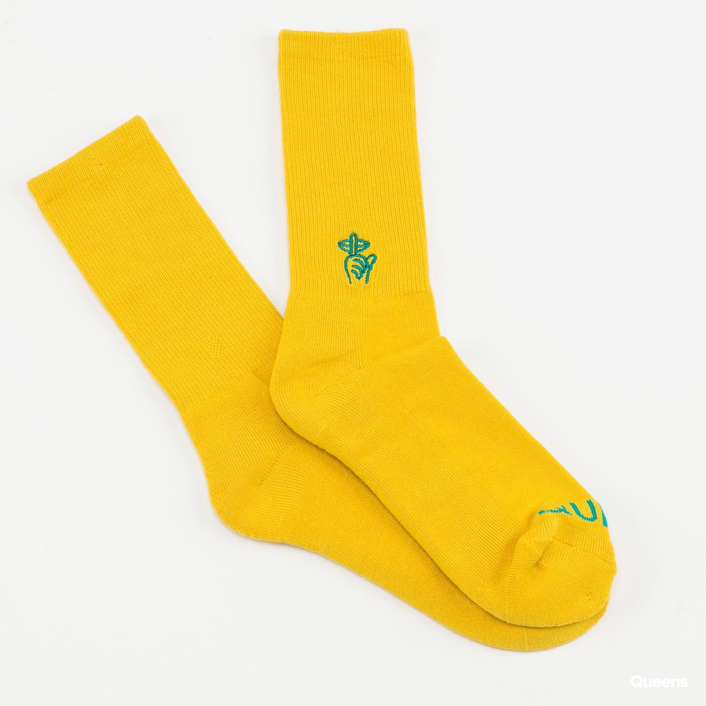 The Quiet Life Shh Sock žluté